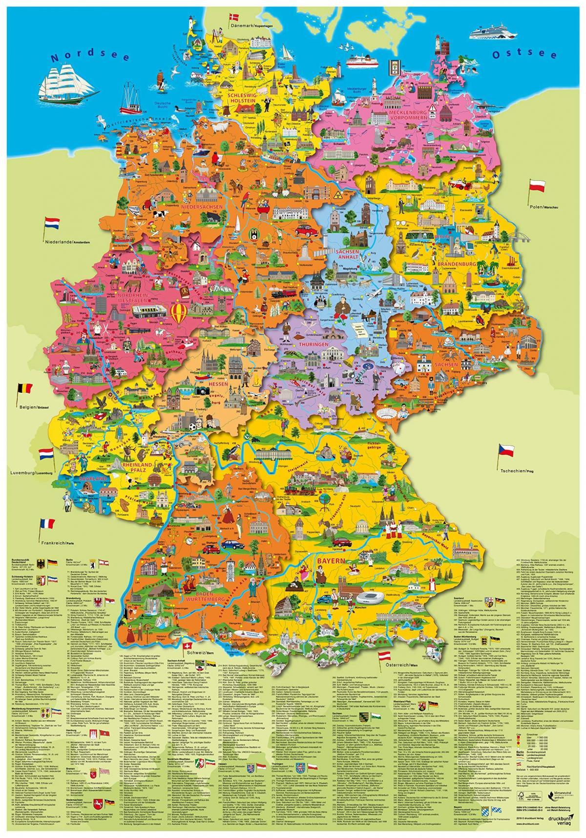 almanya turistik haritas
